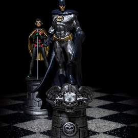 Batman & Robin by Mark Davis - Artistic Objects Toys ( dc, robin, dark, chess, batman )