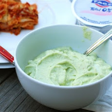 Spicy Avocado Yogurt Dipping Sauce with FAGE Total