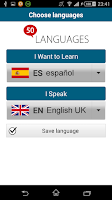 Screenshot of Learn Spanish - 50 languages