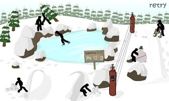 Screenshot of Stickman Click Death Winter