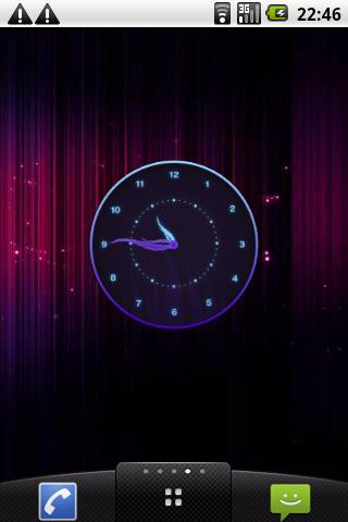 Stylish Glowing Clock Widget