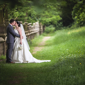 The Secret Garden by Paul Eyre - Wedding Bride & Groom ( married, wedding, couple, marriage, bride & groom )