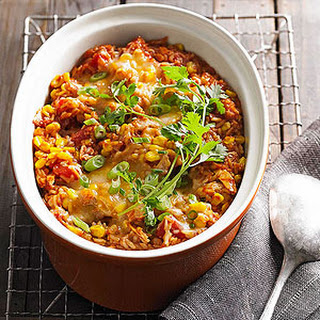 Mexican Corn and Chicken Casserole