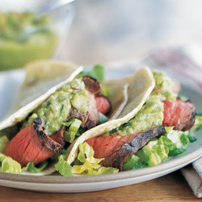 Steak Tacos with Guacamole