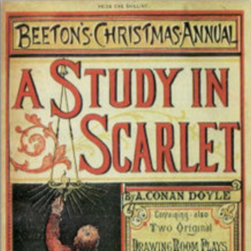 A STUDY IN SCARLET By A. CONAN LOGO-APP點子