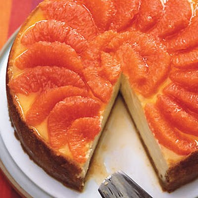 Ginger and Pink Grapefruit Cheesecake