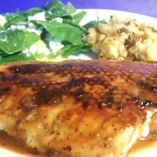 Pan Roasted Salmon Steaks With Sherry Vinegar- Honey Glaze