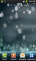 Screenshot of Snowflakes Live Wallpaper