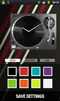 Screenshot of DJ DECK Analog Clock Widget