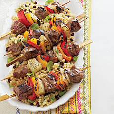 Seasoned Lamb Kebabs