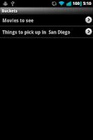 Screenshot of Stuff Buckets