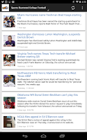 Screenshot of Latest College Football News