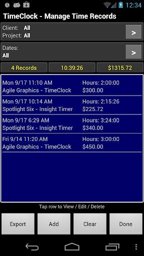 玩免費商業APP|下載TimeClock Pro - Time Tracker app不用錢|硬是要APP
