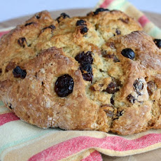 Breakfast Irish Soda Bread w/ Dried Cherries & Golden Raisins