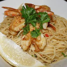 Prawns with Spicy Lemon-Butter Spaghetti
