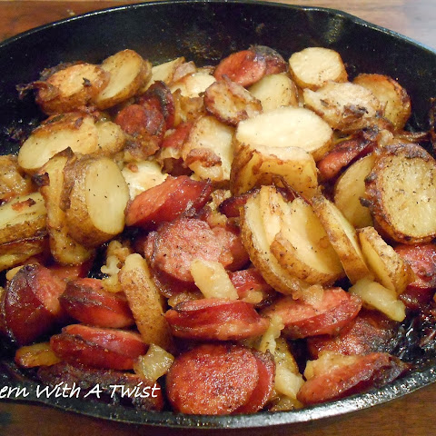 Sausage, Onion and Greek Potatoes