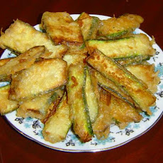 Kolokythakia Tiganita - Greek Battered Fried Zucchini / Courgett