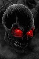 Screenshot of Skull Red Eyes Live Wallpaper