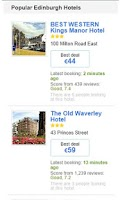 Screenshot of Hotels in Edinburgh