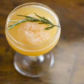 Peach and Rosemary Cocktail
