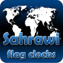 Sahrawi flag clocks icon