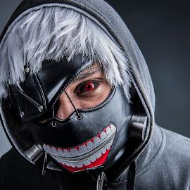 Ghoul No2 by Shaheed Joe-Dewarder - People Portraits of Men ( scary, cosplay, anime, people, halloween )