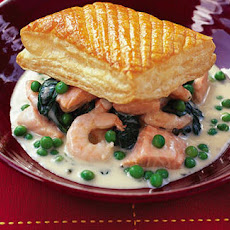 Cheat's Prawn And Salmon Puff Pie