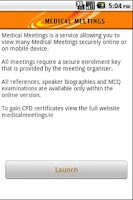Screenshot of Medical Meetings