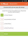 Screenshot of Brevet 2015 - Le Monde
