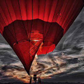 Skies on Fire by Daryl Nickelson - Transportation Other ( hot air balloon, landscape, photography )