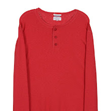 The Granpa Red Henley in Bright Red - designed by GANT RUGGER