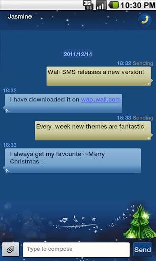 ワリーSMSテーマ:メリークリスマスのファンタジー