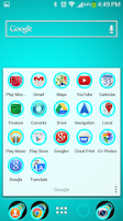 Screenshot of Cyan Theme Nova
