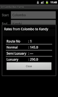 Screenshot of Sri Lanka Bus Fares