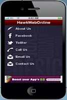 Screenshot of HawkWebSysytems