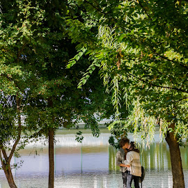 Young Love by Cirnu Flavian Ionut - People Couples ( love, kiss, kissing, park, nature, people )
