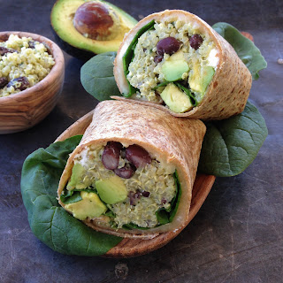 Quinoa Wrap With Black Beans, Feta And Avocado
