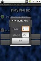 Screenshot of White Noise Machine Lite