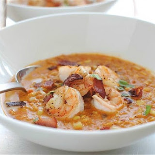 Smoky Corn Chowder with Shrimp