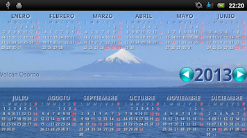 Screenshot of CalendarioCL