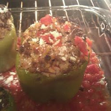 Stuffed Bell Peppers, Greek Style