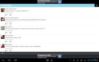 Screenshot of swapMessenger