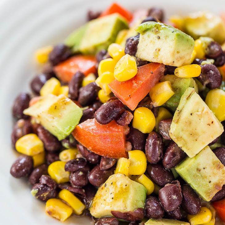 Avocado, Black Bean and Corn Salad with Lime-Cumin Vinaigrette Recipe ...