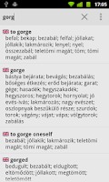 Screenshot of Hungarian Dictionary