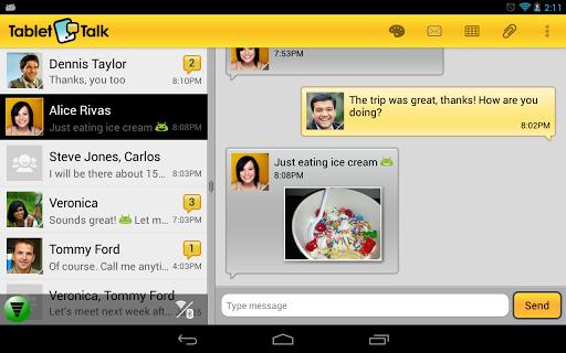 Tablet Talk: SMS & Texting App - screenshot