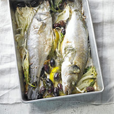 Baked Sea Bass With Fennel
