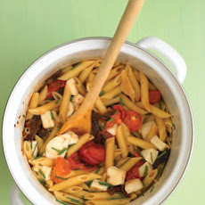 Pasta with Tomato and Mozzarella Recipe   Yummly