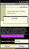 Screenshot of NIHSS ( Stroke Scales )