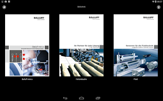 Screenshot of Balluff Product Catalog
