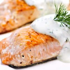 Horseradish and Yogurt Crusted Salmon